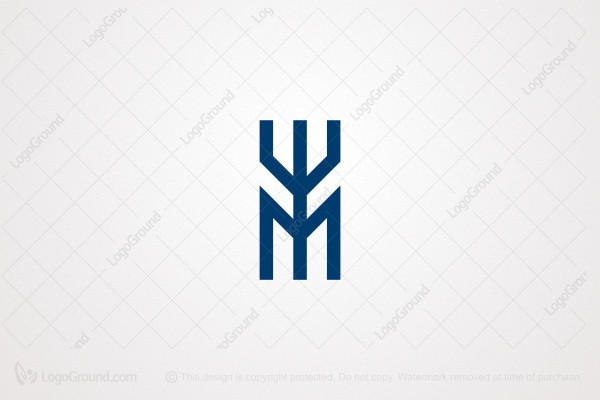 Logo for sale: M Trident Logo