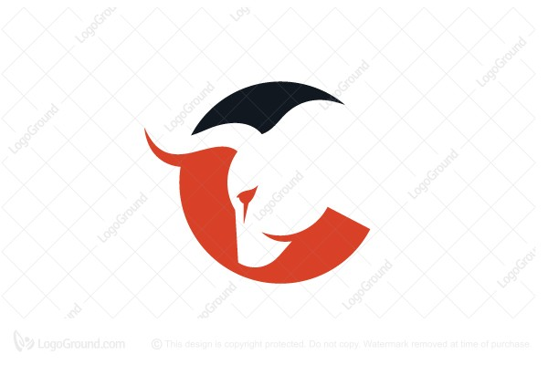 Logo for sale: Letter C Bull Logo