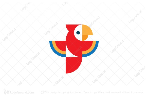 Logo for sale: Fly Parrot Logo