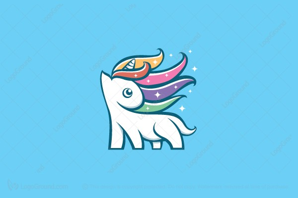 Logo for sale: Magical Unicorn Logo