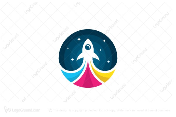 Logo for sale: Rocket Print Logo