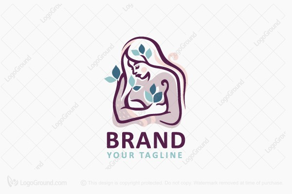 Logo for sale: Vegan Woman Logo