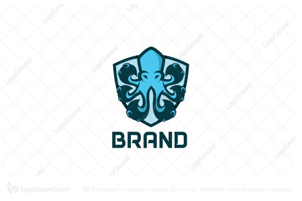 Logo for sale: Octo Shield Logo
