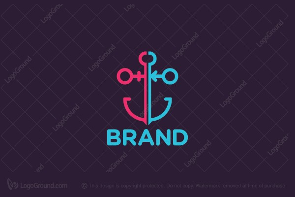 Logo for sale: Gender Anchor Logo