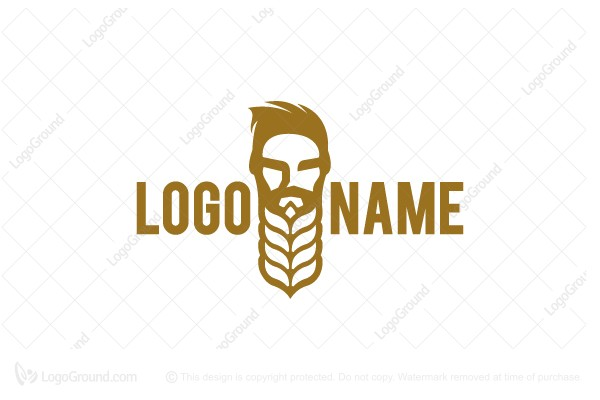 Logo for sale: Barley Beard Logo