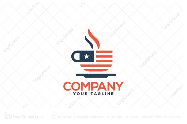 Logo for sale: American Cafe Logo
