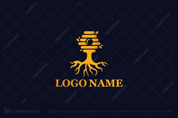 Logo for sale: Rooted Hive Logo