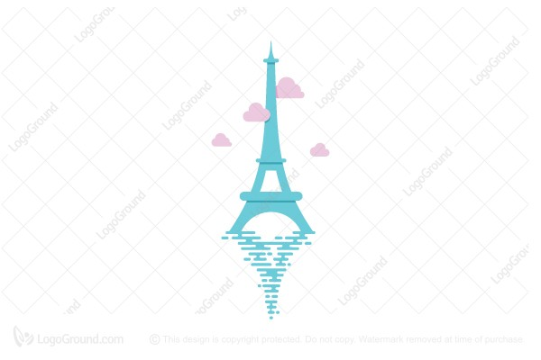 Logo for sale: Paris Eiffel Tower Logo