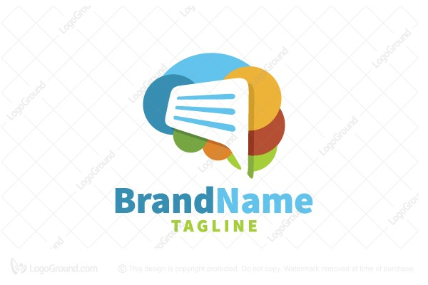Logo for sale: Brain Talk Logo