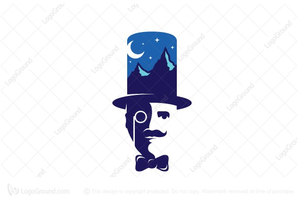 Logo for sale: Tophat Mountain Logo