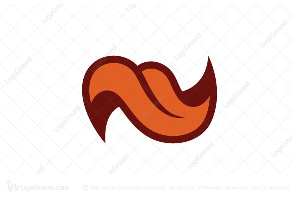 Logo for sale: Letter N Tongue Logo