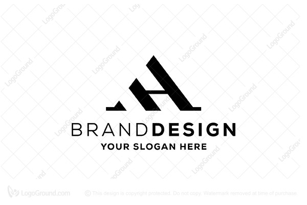 Ah Ha Elegant Monogram Logo
