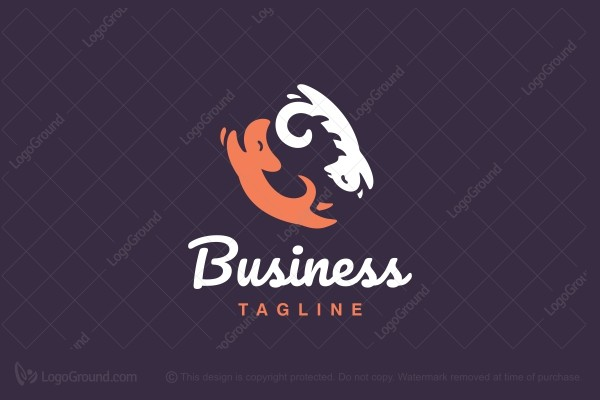Logo for sale: Cat And Dog Logo