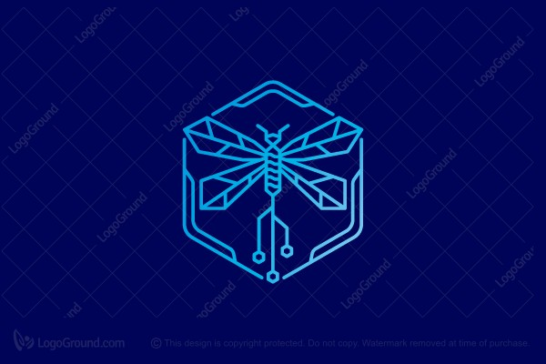 Logo for sale: Dragonfly Tech Logo