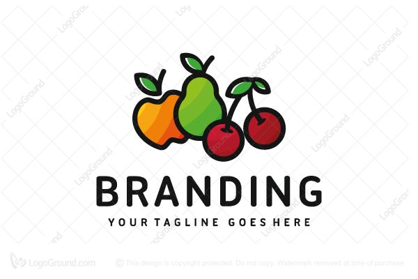 Logo for sale: Fresh Fruit Logo