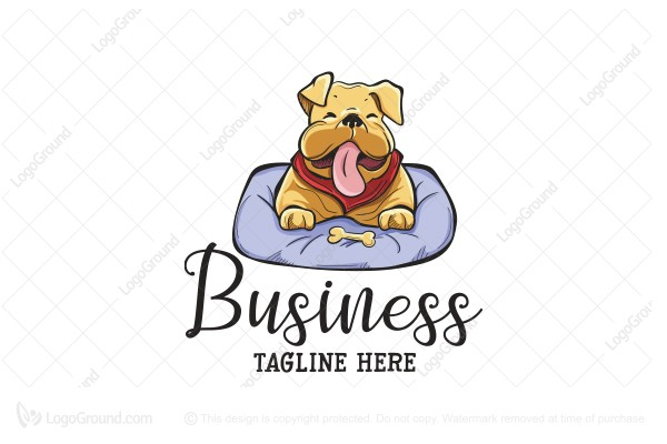 Logo for sale: Cuddly Bulldog Logo