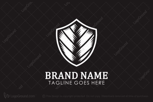 Logo for sale: Layered Security Shield Logo