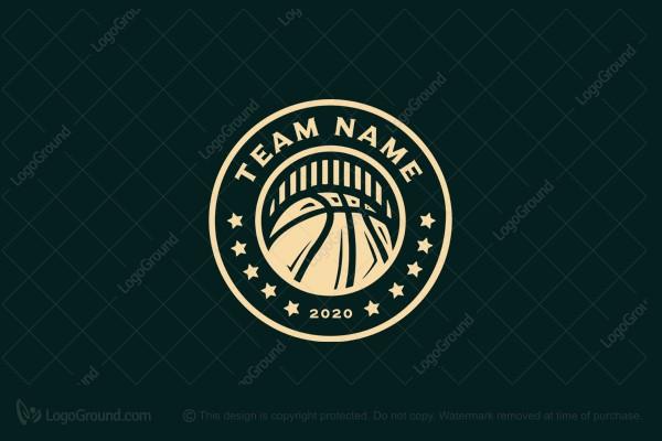 Exclusive Logo 193977 Vintage Basketball Team Logo