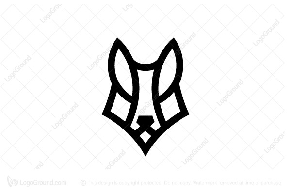 Logo for sale: Wolf Head Logo