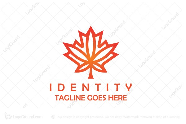 Logo for sale: Canada Maple Leaf Cannabis Logo