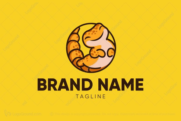 Logo for sale: Cute Gecko Logo