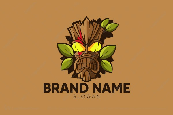 Logo for sale: Wood Mask Logo