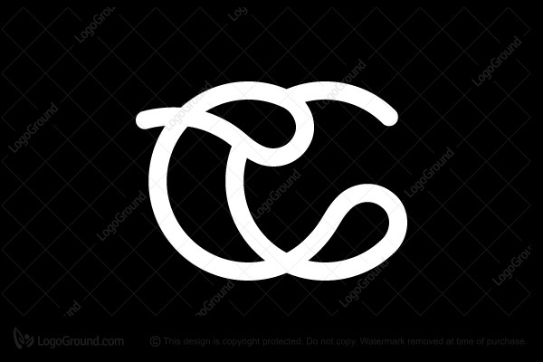 Logo for sale: CC monogram with drops Logo