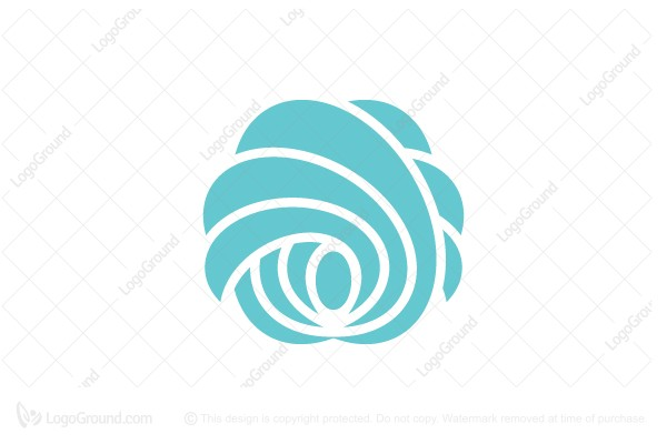 Logo for sale: Feathershellflower Graceful Shape Logo