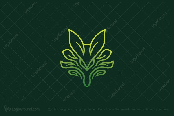 Logo for sale: Leaf Fox Logo