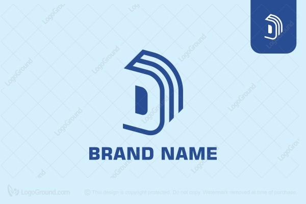 Logo for sale: Letter Dbook Logo