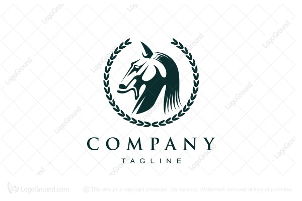 Logo for sale: Horse Badge Logo