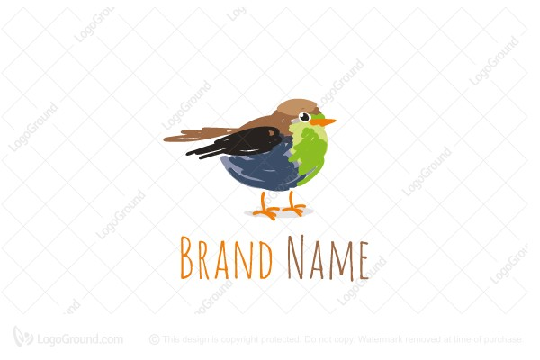 Logo for sale: Sketch Bird Logo