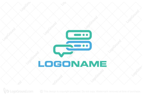 Logo for sale: Software Chat Logo