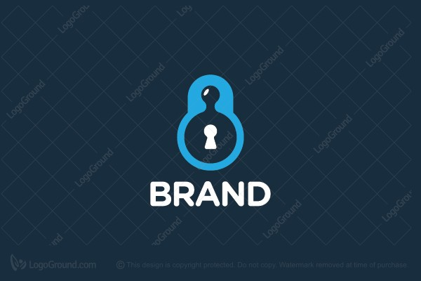 Logo for sale: Puzzle Lock Logo