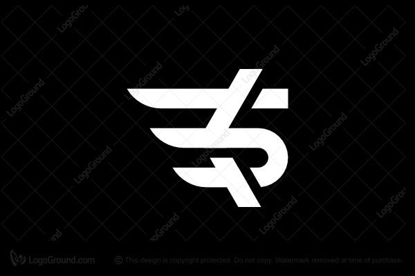 Ks Wings Monogram Logo