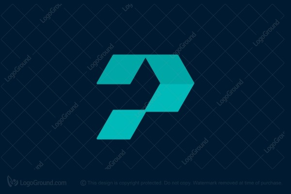 Logo for sale: Letter P Monogram
