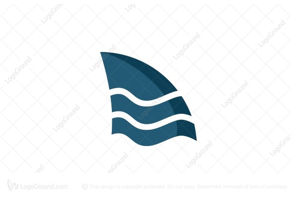 Logo for sale: Shark And Wave Logo