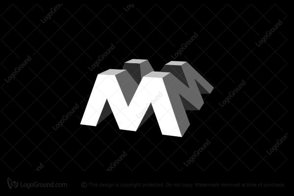 Logo for sale: Letter M 3d Logo