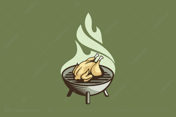Logo for sale: Roasted Chicken Logo