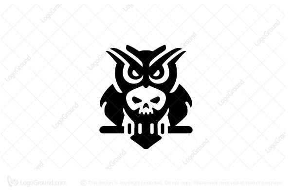 Logo for sale: Owl Skull Logo