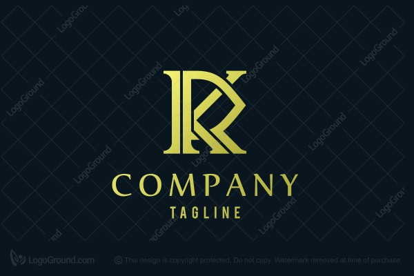 Logo for sale: RK KR Gold lettermark Logo