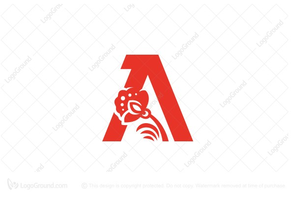 Logo for sale: Letter A And Flower Logo