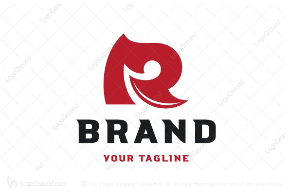Logo for sale: Sharp Letter R Logo