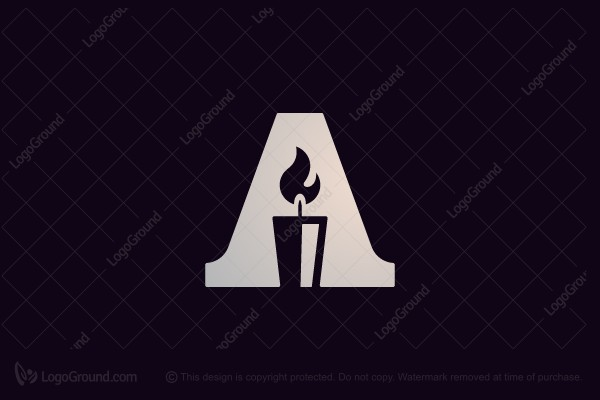 Logo for sale: A Candle Logo