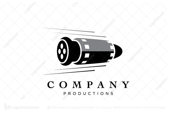 Logo for sale: Bullet Film Logo