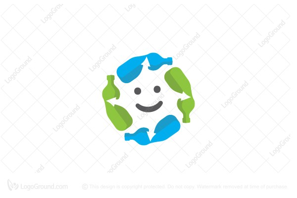 Logo for sale: Eco Friendly  Recycle Character Logo