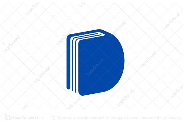 Logo for sale: Letter D And Book Logo Design