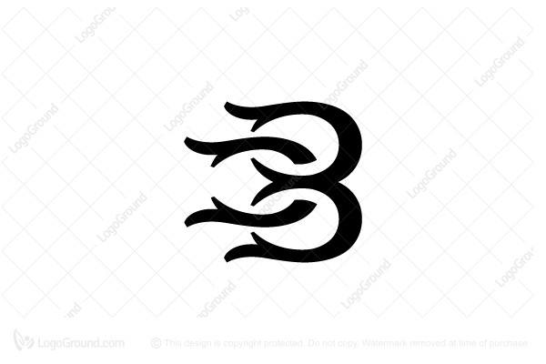 Logo for sale: Antlers Style Letter B Logo