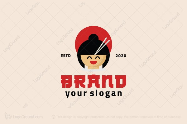 Logo for sale: Japanese Food Logo