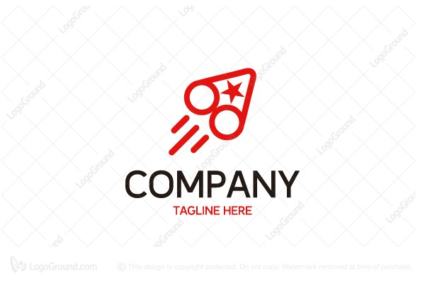 Logo for sale: Triangle Circle And Rocket Logo